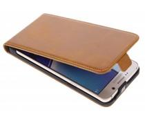 Selencia Luxus Leder Flipcase Ocker für Samsung Galaxy Note 5