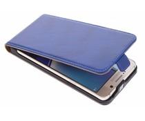 Selencia Luxus Leder Flipcase Blau für Samsung Galaxy Note 5