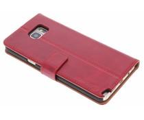 Selencia Luxus Leder Booktype Hülle Rot für Samsung Galaxy Note 5