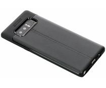 Leder Silikon-Case für Samsung Galaxy Note 8
