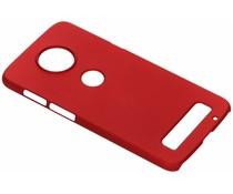 Unifarbene Hardcase-Hülle Rot für Motorola Moto Z3 Play