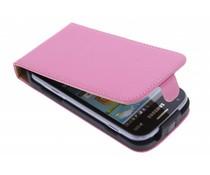 Luxus Flipcase Rosa für Samsung Galaxy S Duos / Trend (Plus)