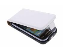 Luxus Flipcase Weiß für Samsung Galaxy S Duos / Trend (Plus)