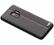 BMW M Line Carbon Hard Case Schwarz / Rot Samsung Galaxy S9