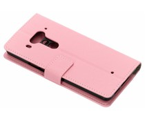 TPU Bookcase Rosa für HTC U12 Plus