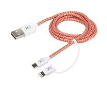 Xtorm Dual Kabel Micro-USB & Lightning - 1 Meter
