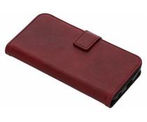 Luxus Leder Booktype Hülle Rot für Motorola Moto G6