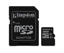 Kingston 32GB microSDHC Speicherkarte Klasse 10 + Adapter