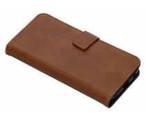 Luxus Leder Booktype Hülle Braun Motorola Moto G6 Plus