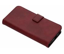 Luxus Booktype Hülle in Lederoptik Rot Motorola Moto G6 Plus