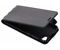 Leder TPU Flipcase Schwarz für das HTC Desire 12
