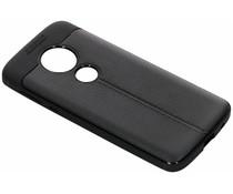 Leder Silikon-Case Schwarz für Motorola Moto E5 / G6 Play