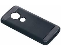 Brushed TPU Case Dunkelblau für Motorola Moto E5 / G6 Play