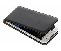 Luxus Flipcase Schwarz HTC One A9