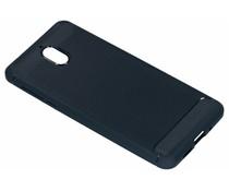 Schwarzer Brushed TPU Case Dunkelblau für das Nokia 3 (2018)