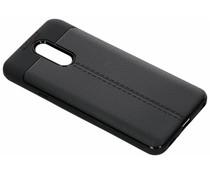 Leder Silikon-Case Schwarz für das LG Q7