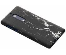 Marmor-Look Hardcase-Hülle Schwarz für das Nokia 5