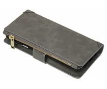 Luxuriöse Portemonnaie-Hülle Grau Samsung Galaxy S9 Plus