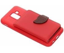 TPU Case mit Blatt-Design Rot Samsung Galaxy J6