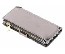 Luxuriöse Portemonnaie-Hülle Grau für Huawei P Smart