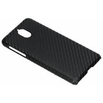 Carbon Look Hardcase-Hülle Schwarz für das Nokia 3.1