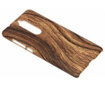 Holz-Design Hardcase-Hülle Dunkelbraun Nokia 5.1