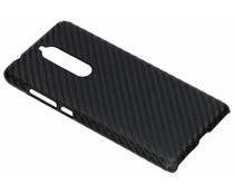 Carbon Look Hardcase-Hülle Schwarz für Nokia 5 (2018)