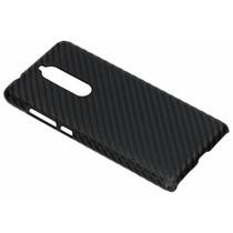 Carbon Look Hardcase-Hülle Schwarz für Nokia 5.1
