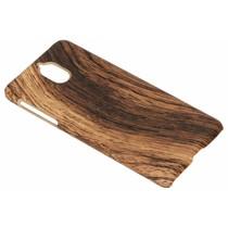 Holz-Design Hardcase-Hülle Braun für das Nokia 3.1