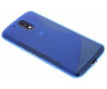 Blaue S-Line TPU Hülle für Motorola Moto G4 (Plus)