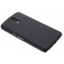 Carbon Look Hardcase-Hülle Schwarz für Motorola Moto G4 (Plus)