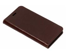 Glänzendes Lederheftchen Braun für das Huawei Nova 2