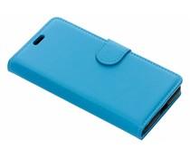 Litchi Buchtyp-Hülle Blau für das Google Pixel 3
