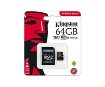 Kingston 64GB microSDHC Speicherkarte Klasse 10 + Adapter