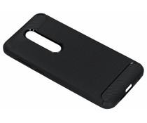 Brushed TPU Case Schwarz für das Nokia 6.1 Plus