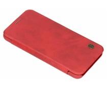 Nillkin Qin Leather Slim Booktype Hülle Rot für das Honor 10