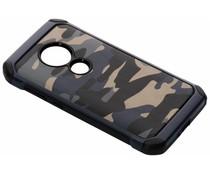 Camouflage Hardcase-Hülle Blau für Moto E5 / Moto G6 Play