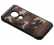 Camouflage Hardcase-Hülle Braun für Moto E5 / Moto G6 Play