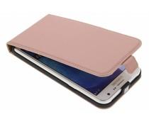 Selencia Luxus Leder Flipcase Roségold für  das Samsung Galaxy J7