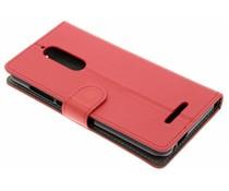Luxus Leder Booktype Hülle Rot für Wiko View