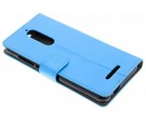 Luxus Leder Booktype Hülle Blau für Wiko View