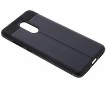 Leder Silikon-Case Schwarz für das Xiaomi Redmi 5