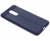 Leder Silikon-Case Blau für das Xiaomi Redmi 5