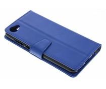 Stilvolles Booklet Blau für das HTC Desire 12