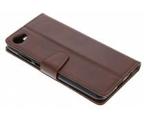 Stilvolles Booklet Braun für das HTC Desire 12