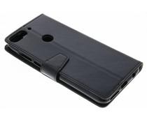 Stilvolles Booklet Schwarz für das HTC Desire 12 Plus