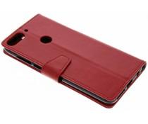 Stilvolles Booklet Rot für das HTC Desire 12 Plus