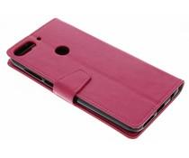 Stilvolles Booklet Rosa für das HTC Desire 12 Plus