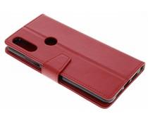 Stilvolles Booklet Rot für das Wiko View 2 Pro