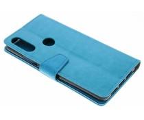 Stilvolles Booklet Blau für das Wiko View 2 Pro